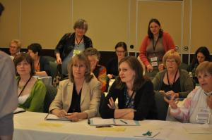 Attending a workshop at 2012 Ontario Writers' Conference